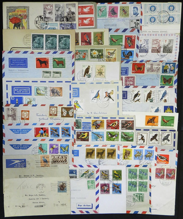 Lot 10 - topic fauna postal history -  Guillermo Jalil - Philatino Auction # 2044 WORLDWIDE + ARGENTINA: General October auction