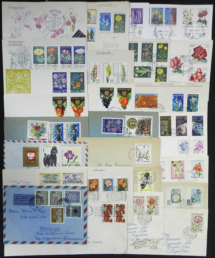 Lot 17 - TOPIC FLORA / FLOWERS postal history -  Guillermo Jalil - Philatino Auction # 2044 WORLDWIDE + ARGENTINA: General October auction