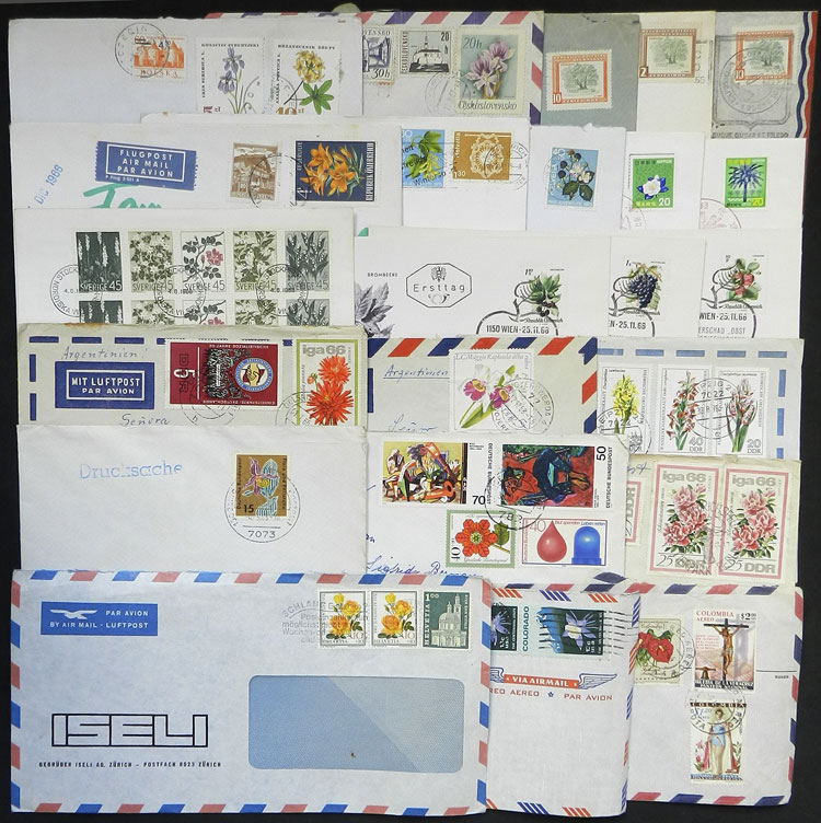 Lot 16 - TOPIC FLORA / FLOWERS postal history -  Guillermo Jalil - Philatino Auction # 2044 WORLDWIDE + ARGENTINA: General October auction