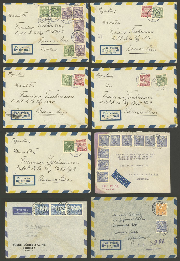 Lot 948 - Sweden postal history -  Guillermo Jalil - Philatino Auction # 2044 WORLDWIDE + ARGENTINA: General October auction