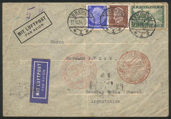 Lot 89 - germany postal history -  Guillermo Jalil - Philatino Auction # 2044 WORLDWIDE + ARGENTINA: General October auction