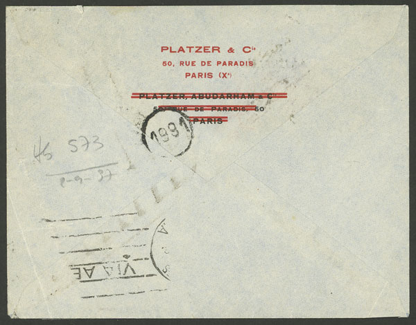 Lot 618 - France postal history -  Guillermo Jalil - Philatino Auction # 2044 WORLDWIDE + ARGENTINA: General October auction