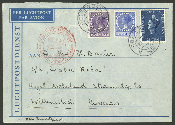 Lot 694 - Netherlands postal history -  Guillermo Jalil - Philatino Auction # 2044 WORLDWIDE + ARGENTINA: General October auction