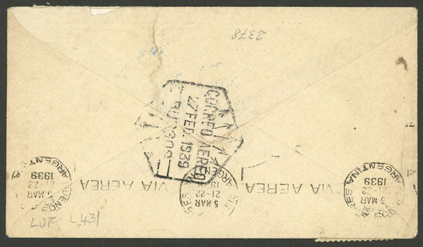Lot 579 - Spain postal history -  Guillermo Jalil - Philatino Auction # 2044 WORLDWIDE + ARGENTINA: General October auction