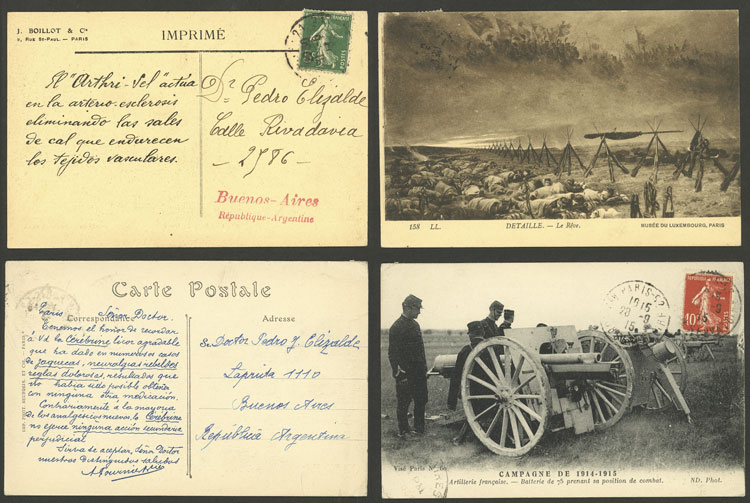 Lot 617 - France postal history -  Guillermo Jalil - Philatino Auction # 2044 WORLDWIDE + ARGENTINA: General October auction