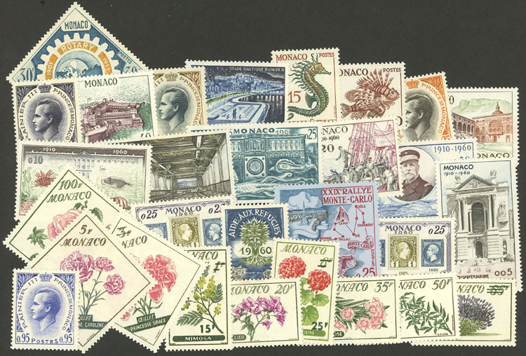 Lot 814 - Monaco Lots and Collections -  Guillermo Jalil - Philatino Auction # 2044 WORLDWIDE + ARGENTINA: General October auction