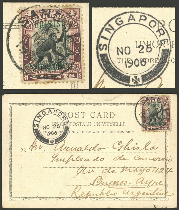 Lot 419 - north borneo postal history -  Guillermo Jalil - Philatino Auction # 2044 WORLDWIDE + ARGENTINA: General October auction
