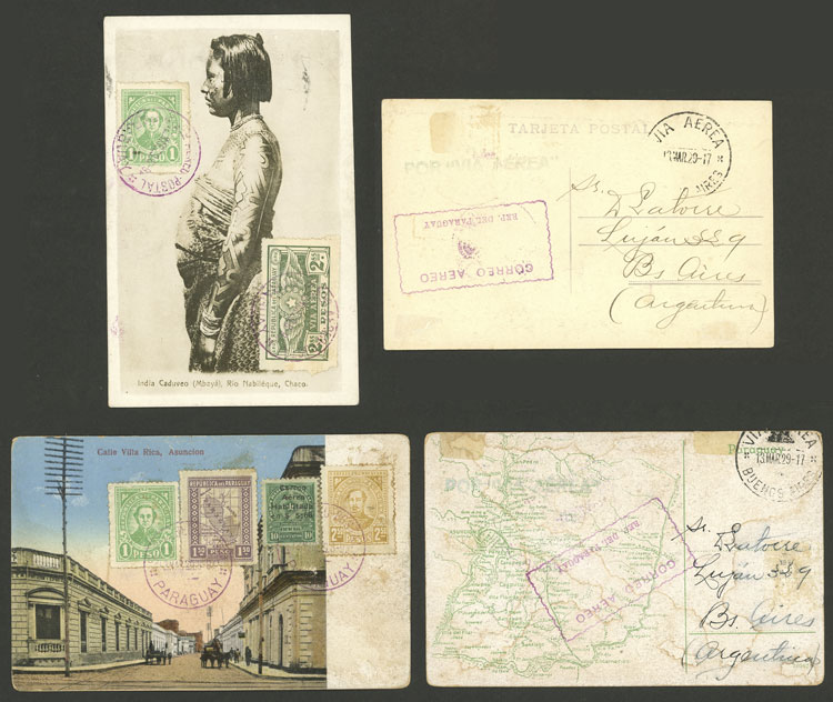 Lot 866 - Paraguay postal history -  Guillermo Jalil - Philatino Auction # 2044 WORLDWIDE + ARGENTINA: General October auction