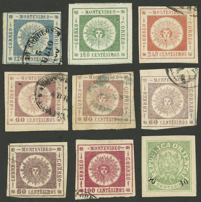 Lot 1011 - Uruguay general issues -  Guillermo Jalil - Philatino Auction # 2044 WORLDWIDE + ARGENTINA: General October auction