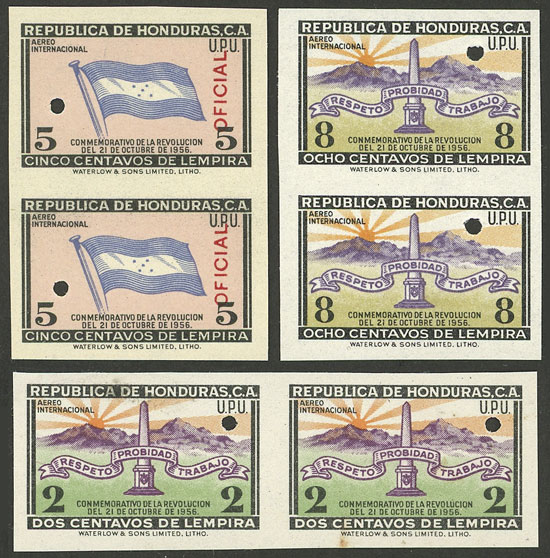Lot 702 - Honduras Lots and Collections -  Guillermo Jalil - Philatino Auction # 2044 WORLDWIDE + ARGENTINA: General October auction