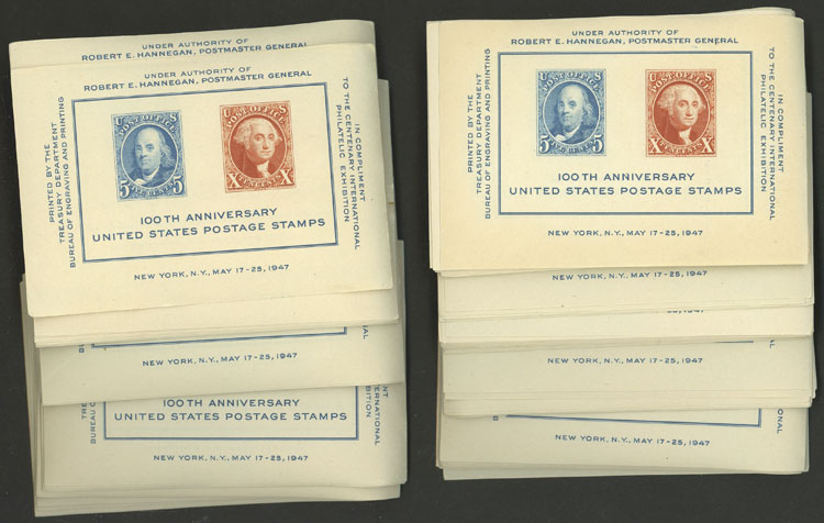Lot 593 - united states souvenir sheets -  Guillermo Jalil - Philatino Auction # 2044 WORLDWIDE + ARGENTINA: General October auction