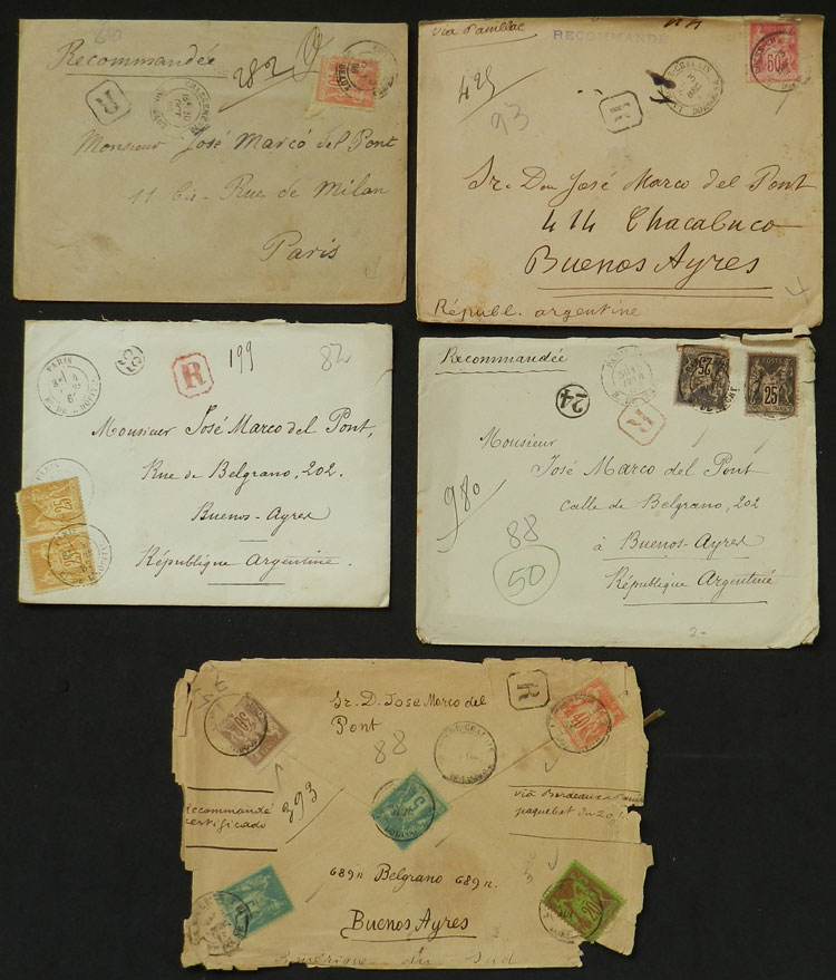 Lot 614 - France postal history -  Guillermo Jalil - Philatino Auction # 2044 WORLDWIDE + ARGENTINA: General October auction