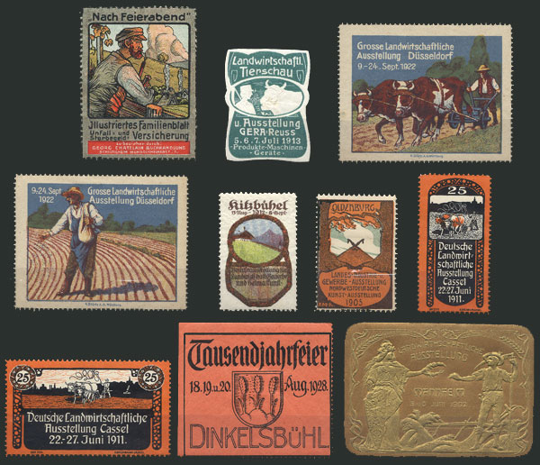 Lot 135 - germany cinderellas -  Guillermo Jalil - Philatino Auction # 2044 WORLDWIDE + ARGENTINA: General October auction