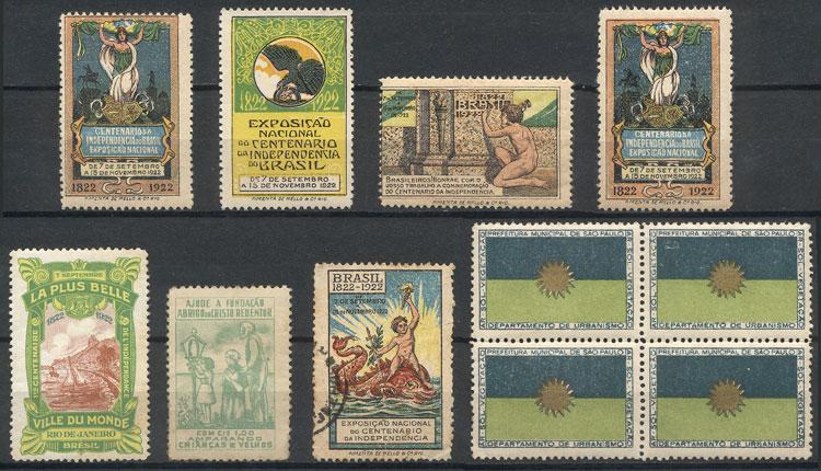 Lot 446 - brazil cinderellas -  Guillermo Jalil - Philatino Auction # 2044 WORLDWIDE + ARGENTINA: General October auction