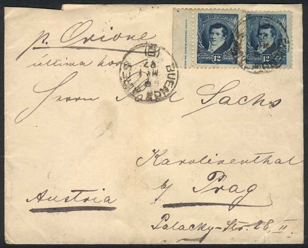 Lot 308 - Argentina postal history -  Guillermo Jalil - Philatino Auction # 2044 WORLDWIDE + ARGENTINA: General October auction