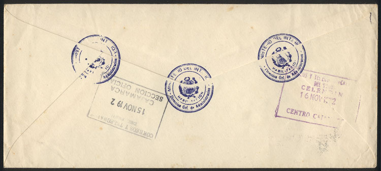 Lot 906 - Peru postal history -  Guillermo Jalil - Philatino Auction # 2044 WORLDWIDE + ARGENTINA: General October auction
