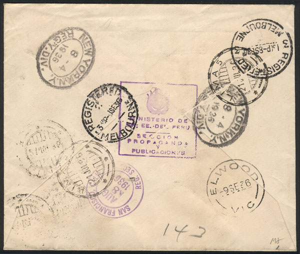 Lot 902 - Peru postal history -  Guillermo Jalil - Philatino Auction # 2044 WORLDWIDE + ARGENTINA: General October auction