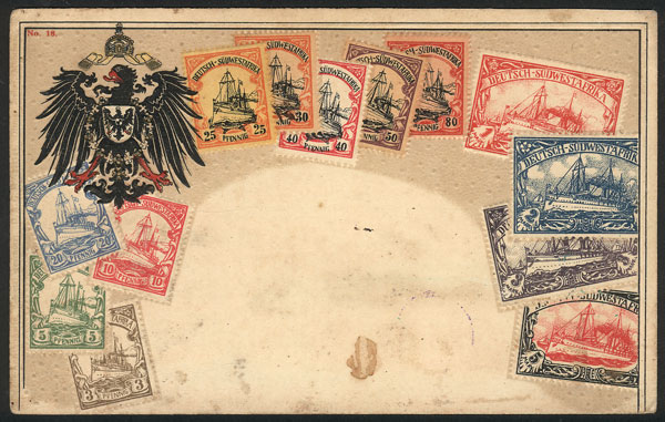 Lot 20 - german south-west africa postcards -  Guillermo Jalil - Philatino Auction # 2044 WORLDWIDE + ARGENTINA: General October auction