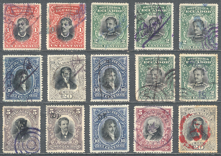 Lot 565 - Ecuador Lots and Collections -  Guillermo Jalil - Philatino Auction # 2044 WORLDWIDE + ARGENTINA: General October auction