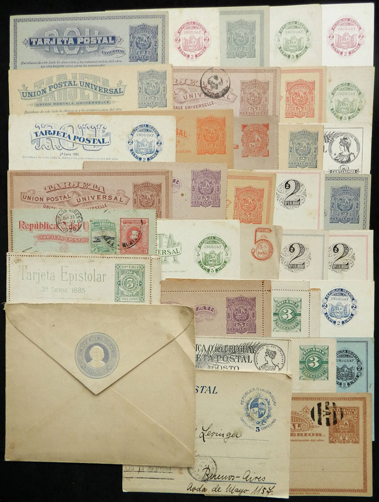 Lot 1014 - Uruguay postal stationeries -  Guillermo Jalil - Philatino Auction # 2044 WORLDWIDE + ARGENTINA: General October auction