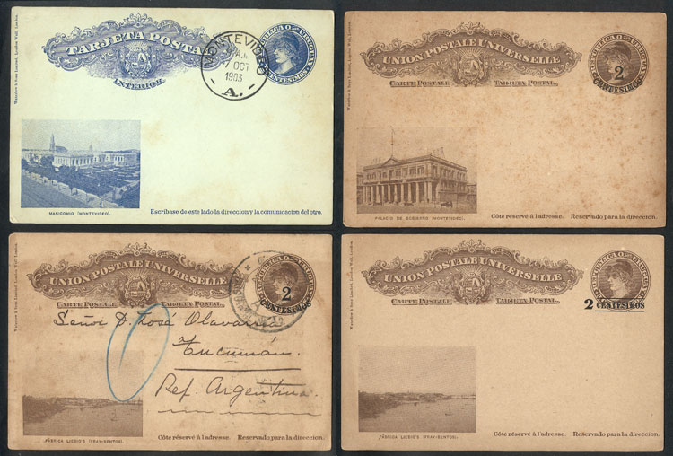 Lot 1013 - Uruguay postal stationeries -  Guillermo Jalil - Philatino Auction # 2044 WORLDWIDE + ARGENTINA: General October auction