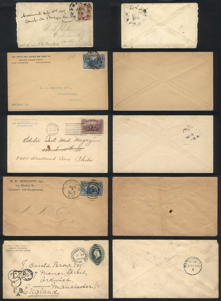 Lot 596 - united states postal history -  Guillermo Jalil - Philatino Auction # 2044 WORLDWIDE + ARGENTINA: General October auction