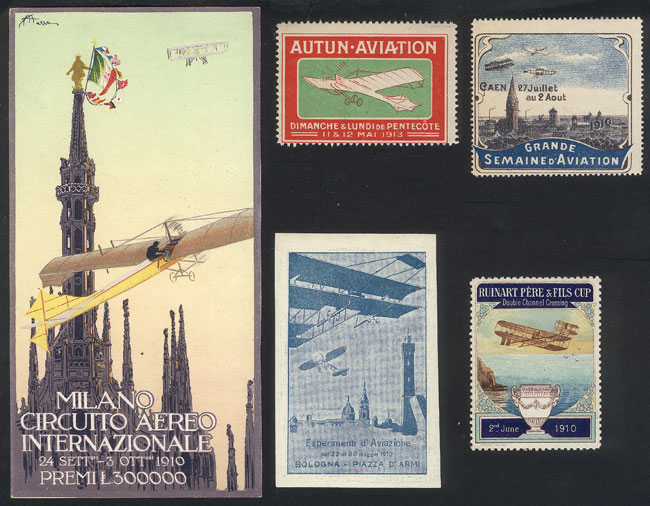 Lot 2 - topic aviation cinderellas -  Guillermo Jalil - Philatino Auction # 2044 WORLDWIDE + ARGENTINA: General October auction