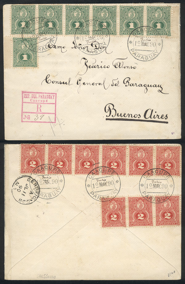 Lot 851 - Paraguay postal history -  Guillermo Jalil - Philatino Auction # 2044 WORLDWIDE + ARGENTINA: General October auction