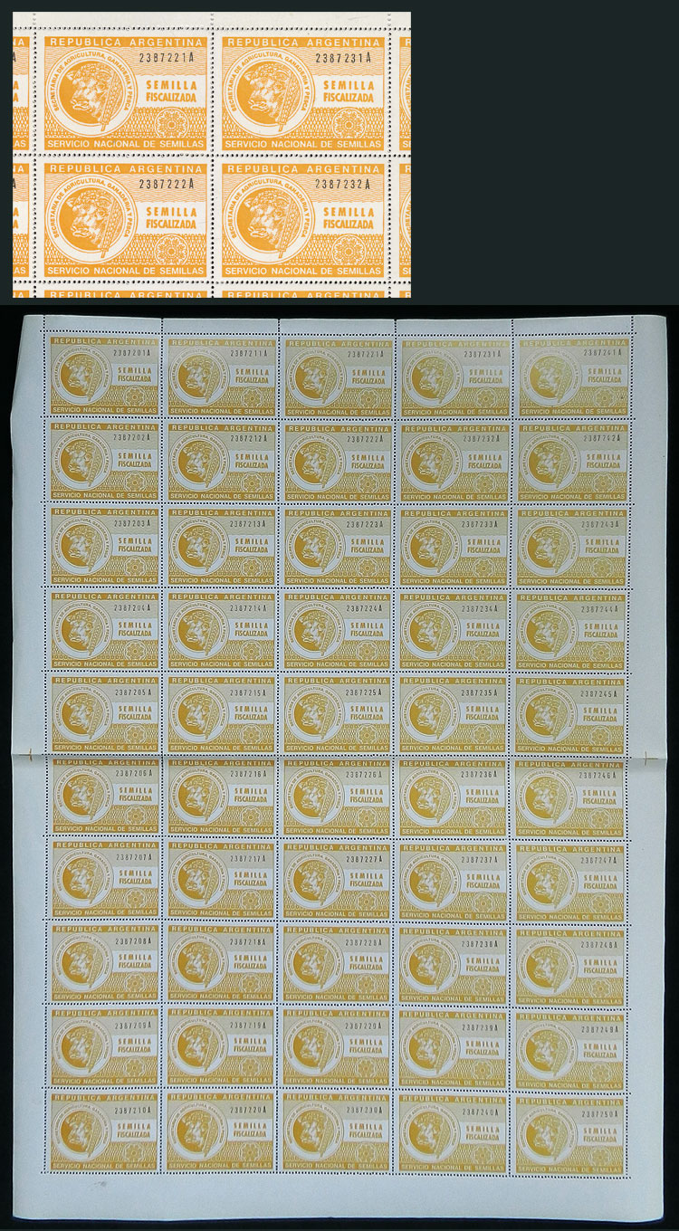 Lot 362 - Argentina revenue stamps -  Guillermo Jalil - Philatino Auction # 2044 WORLDWIDE + ARGENTINA: General October auction