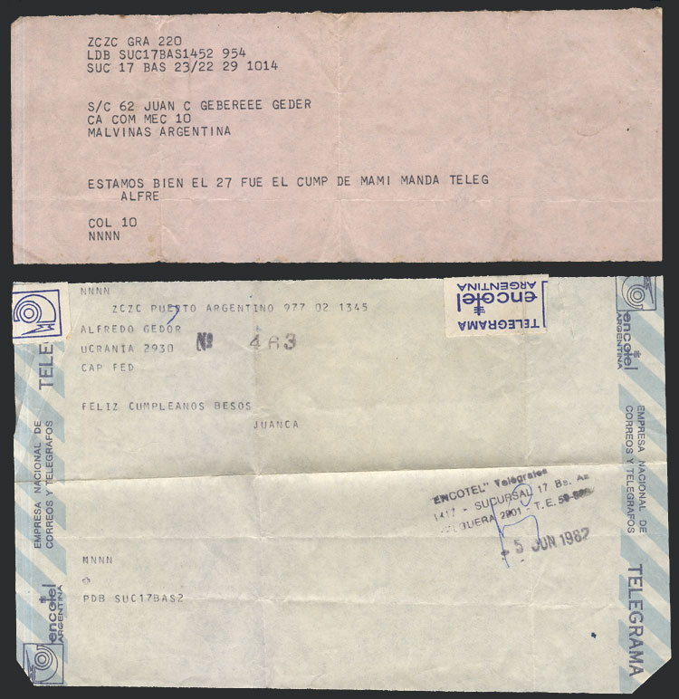 Lot 806 - falkland islands/malvinas postal history -  Guillermo Jalil - Philatino Auction # 2044 WORLDWIDE + ARGENTINA: General October auction