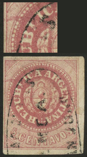 Lot 12 - Argentina escuditos -  Guillermo Jalil - Philatino Auction # 2045 ARGENTINA: Special November auction