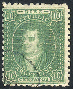 Lot 37 - Argentina rivadavias -  Guillermo Jalil - Philatino Auction # 2045 ARGENTINA: Special November auction
