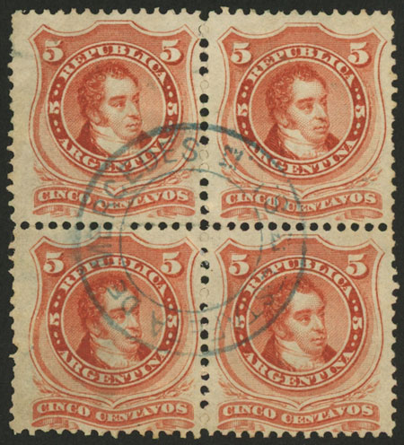 Lot 98 - Argentina general issues -  Guillermo Jalil - Philatino Auction # 2045 ARGENTINA: Special November auction