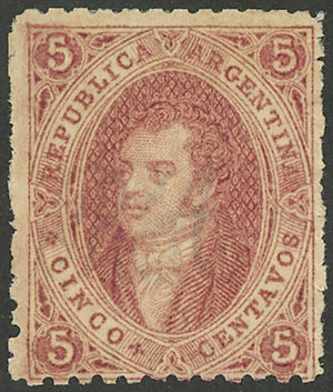 Lot 25 - Argentina rivadavias -  Guillermo Jalil - Philatino Auction # 2045 ARGENTINA: Special November auction
