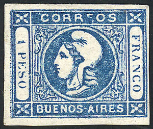 Lot 2 - Argentina cabecitas -  Guillermo Jalil - Philatino Auction # 2045 ARGENTINA: Special November auction