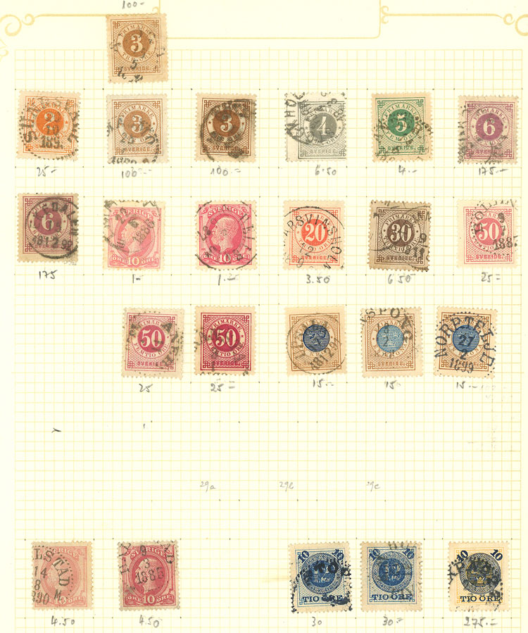 Lot 2095 - Sweden Lots and Collections -  Guillermo Jalil - Philatino Auction # 2048 WORLDWIDE + ARGENTINA: General November auction