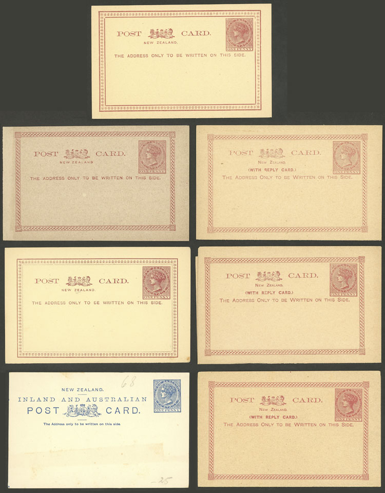 Lot 1933 - New Zealand Postal stationery -  Guillermo Jalil - Philatino Auction # 2048 WORLDWIDE + ARGENTINA: General November auction