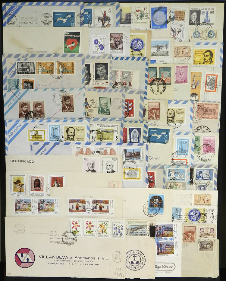 Lot 834 - Argentina postal history -  Guillermo Jalil - Philatino Auction # 2048 WORLDWIDE + ARGENTINA: General November auction