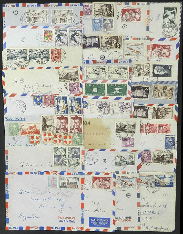 Lot 1622 - France postal history -  Guillermo Jalil - Philatino Auction # 2048 WORLDWIDE + ARGENTINA: General November auction