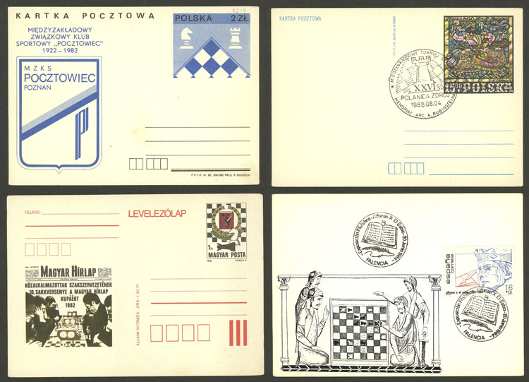 Lot 6 - topic chess Lots and Collections -  Guillermo Jalil - Philatino Auction # 2048 WORLDWIDE + ARGENTINA: General November auction