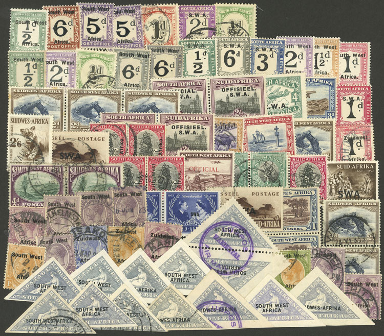 Lot 39 - south west africa Lots and Collections -  Guillermo Jalil - Philatino Auction # 2048 WORLDWIDE + ARGENTINA: General November auction