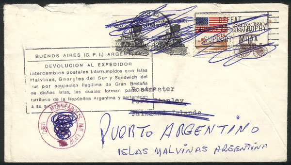 Lot 1860 - falkland islands/malvinas postal history -  Guillermo Jalil - Philatino Auction # 2048 WORLDWIDE + ARGENTINA: General November auction