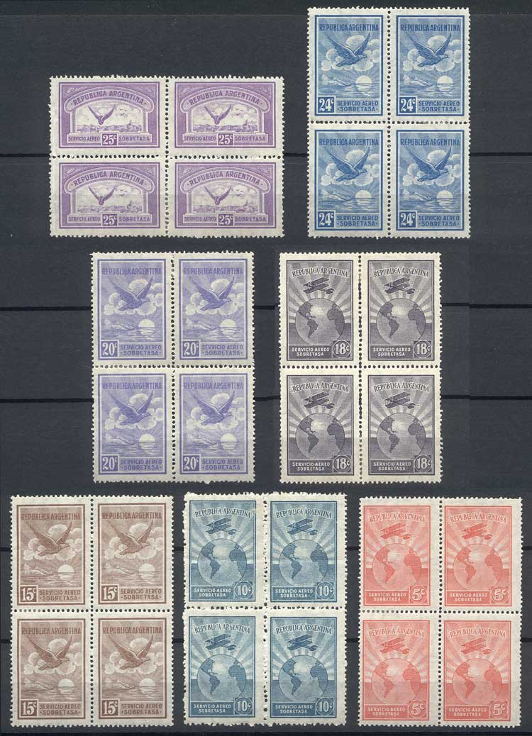 Lot 555 - Argentina airmail -  Guillermo Jalil - Philatino Auction # 2048 WORLDWIDE + ARGENTINA: General November auction