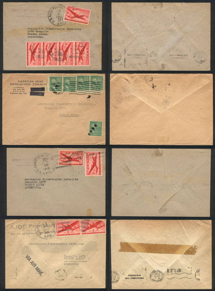 Lot 13 - TOPIC JUDAICA postal history -  Guillermo Jalil - Philatino Auction # 2048 WORLDWIDE + ARGENTINA: General November auction