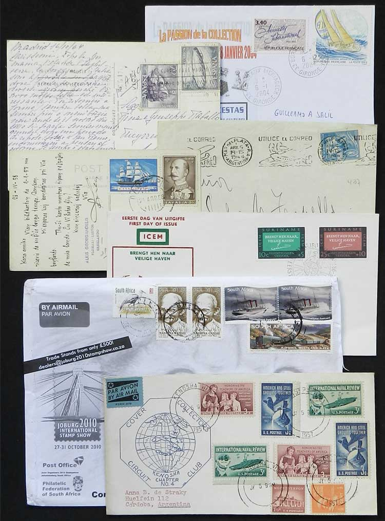 Lot 8 - topic ships Lots and Collections -  Guillermo Jalil - Philatino Auction # 2048 WORLDWIDE + ARGENTINA: General November auction