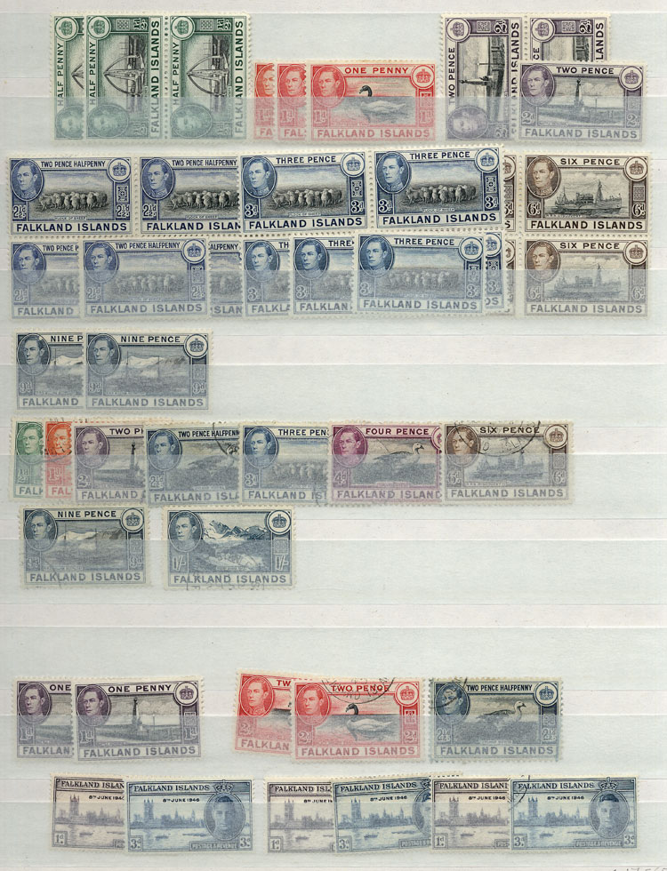 Lot 1861 - falkland islands/malvinas Lots and Collections -  Guillermo Jalil - Philatino Auction # 2048 WORLDWIDE + ARGENTINA: General November auction
