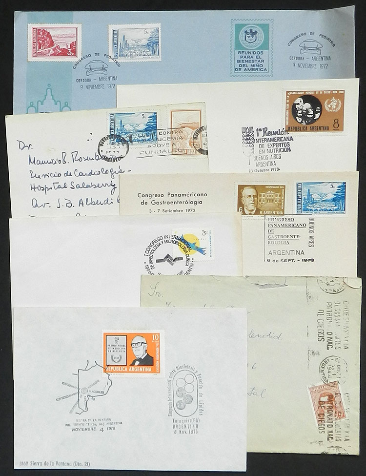 Lot 25 - TOPIC MEDICINE Lots and Collections -  Guillermo Jalil - Philatino Auction # 2048 WORLDWIDE + ARGENTINA: General November auction