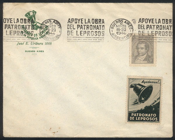 Lot 22 - TOPIC MEDICINE postal history -  Guillermo Jalil - Philatino Auction # 2048 WORLDWIDE + ARGENTINA: General November auction
