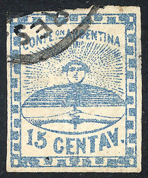 Lot 15 - Argentina confederation -  Guillermo Jalil - Philatino Auction # 2049 ARGENTINA: