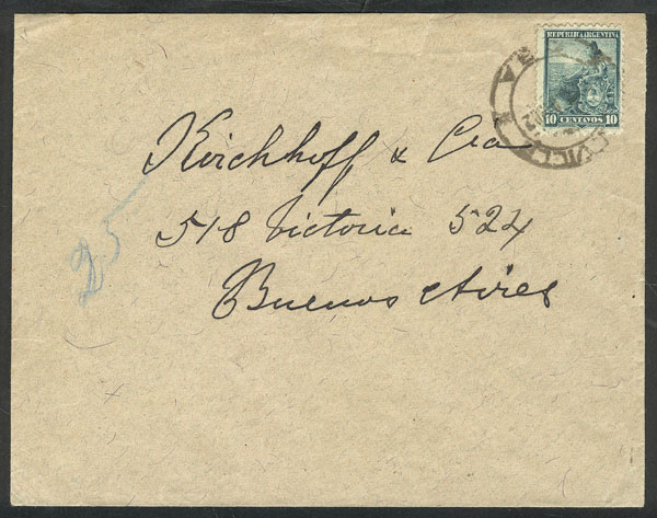 Lot 883 - Argentina postal history -  Guillermo Jalil - Philatino Auction # 2049 ARGENTINA:
